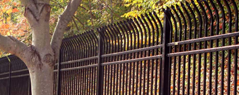 Solid Iron Fence