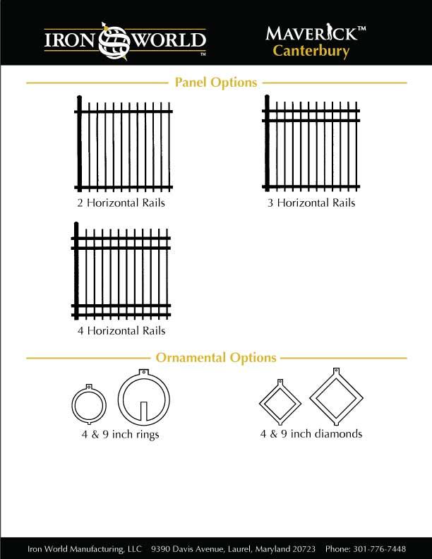 Canterbury Commercial Aluminum Fence