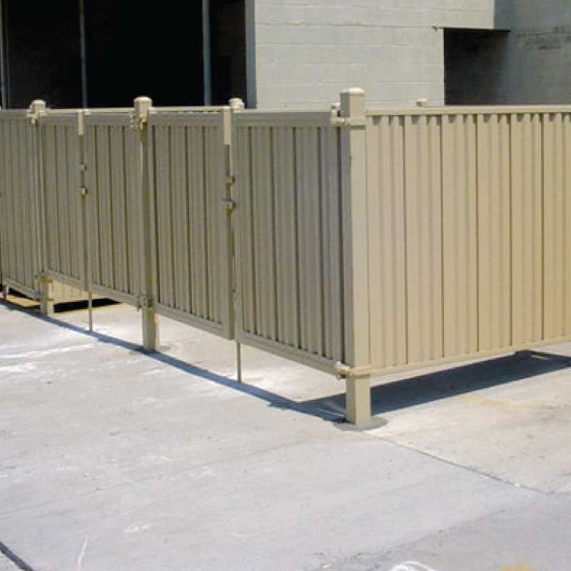 Steel privacy panels metal iron curtain
