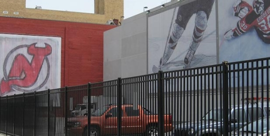 NJ Devils Hocket Parking Fence